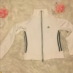 Adidas White and Black Track Jacket